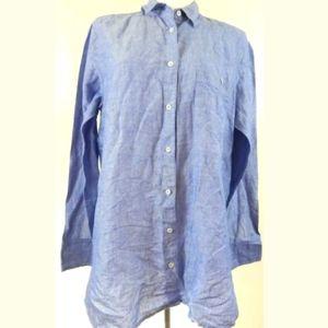 J. Crew Long Cotton Linen Boy Shirt